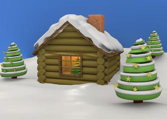 Christmas House - 3D