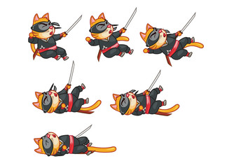 Cat Ninja Dying Sprite