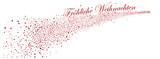 Sternschnuppe, Fröhliche Weihnachten, Grußtext, Text, Schriftzug