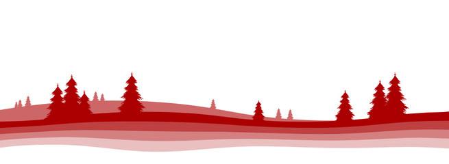 Winterlandschaft, Landschaft, Vorlage, weihnachtlich, einfach