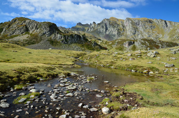 Alpine stream in the Atlantic Pyrenees, Bearn