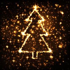 Tannenbaum, Weihnachtsbaum, Christbaum, abstrakt, Sterne, Xmas