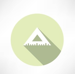 Rulers triangular icon