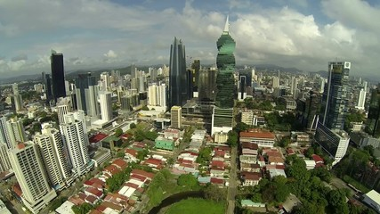 Stock video footage of Downtown Panama in Panama City