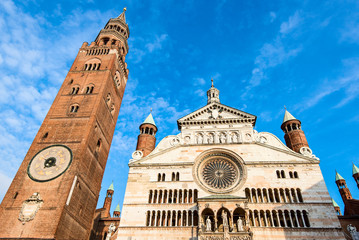Duomo of Cremona - facade and bell tower