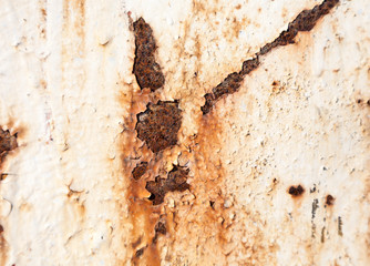 Grunge retro rusty metal texture or background