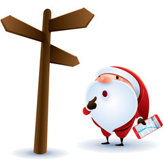Santa Claus finding location