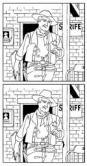 保安官(間違い探し)