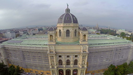 National Vienna Museum Natural History aerial shot architecture