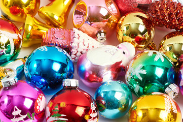 Christmas toys texture background