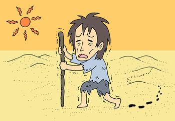 砂漠 遭難 男性
