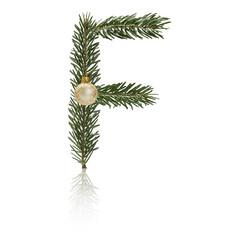 Christmas Letter F