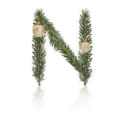 Christmas Letter N