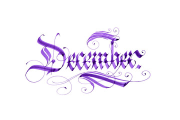 December. Name of the month