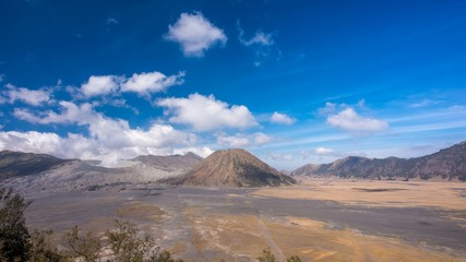 Clouds Moving on top of dormant volcano Time Lapse