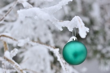 Christmas gree and white