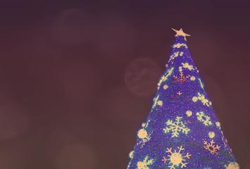 Christmas tree with light and  star