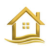 Golden house wave  real estate image. - 73298864