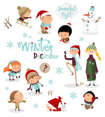 Kids story in winter