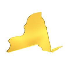 New york golden Map