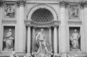 Sculptures of Trevi Fountain.