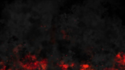 Animated background consisting of turbulent flame of fire