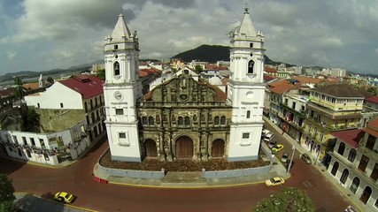 Panama Cathedral on Plaza de la Independencia, Casco Viejo.