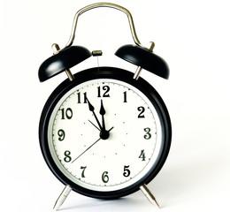 alarm clock in classic style