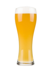 White beer glass