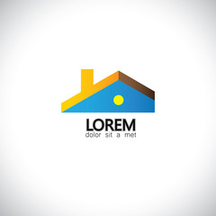 house home or residential building - concept vector graphic