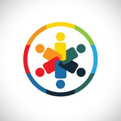 social network community friends partners - concept vector graph
