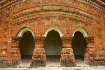 Hindu Temple in Puthia, Bangladesh.