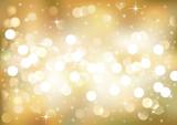 Fototapety Golden festive lights, vector background.