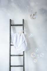 Ladder With Towel