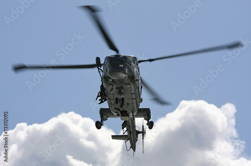 Aluminium Helicopter Naval helicopter on training mission