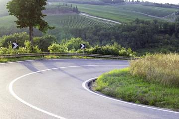 Chianti region, Tuscany, Chiantigiana street. Color image