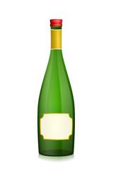 verschlossene Sektflasche
