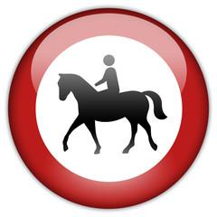 Button Patch Reiten verboten