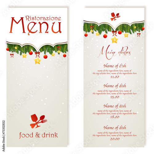 Christmas menu - 73302832