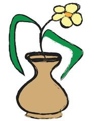 doodle flower in vase