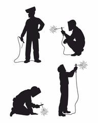 Four weldes set ilhouettes