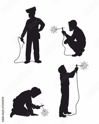 Four weldes set ilhouettes - 73303070