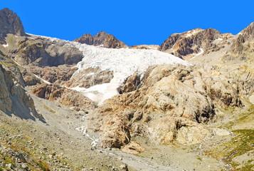 Glacier Blanc dans les Alpes