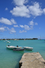 picturesque city of Grand Bay in Mauritius Republic