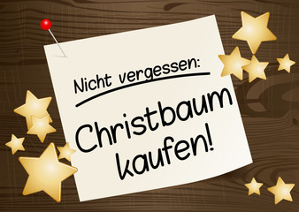 Nicht vergessen: Christbaum kaufen