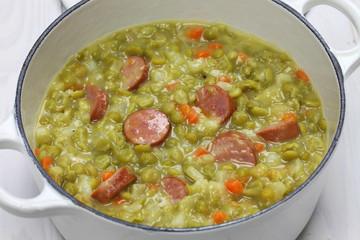 erwtensoep, pea soup, traditional dutch cuisine