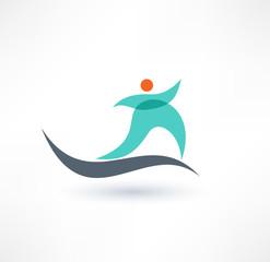 Running Gym Sport Man Symbol. Icon.