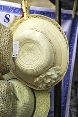 Hats exposition for sale. Color image