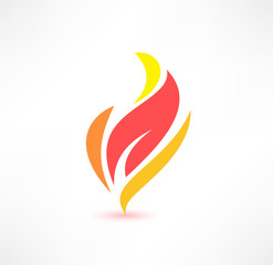 Fire icon. The energy concept. Logo design.