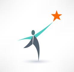 Winner vector logo design template